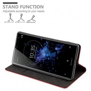 Cadorabo Hülle für Sony Xperia XZ2 in APFEL ROT Handyhülle mit Magnetverschluss, Standfunktion und Kartenfach Case Cover Schutzhülle Etui Tasche Book Klapp Style - Vorschau 4