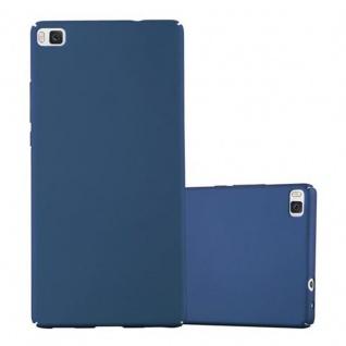 Cadorabo Hülle für Huawei P8 in METALL BLAU - Hardcase Handyhülle aus Plastik gegen Kratzer und Stöße - Schutzhülle Bumper Ultra Slim Back Case Hard Cover