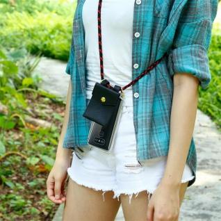 Cadorabo Handy Kette für LG G6 in SCHWARZ ROT - Silikon Necklace Umhänge Hülle mit Gold Ringen, Kordel Band Schnur und abnehmbarem Etui ? Schutzhülle - Vorschau 4