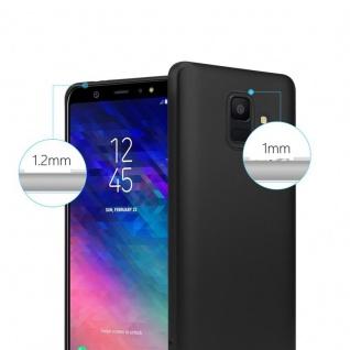 Cadorabo Hülle für Samsung Galaxy A6 2018 in METALLIC SCHWARZ - Handyhülle aus flexiblem TPU Silikon - Silikonhülle Schutzhülle Ultra Slim Soft Back Cover Case Bumper - Vorschau 4