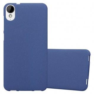 Cadorabo Hülle für HTC Desire 10 Lifestyle / Desire 825 in FROST DUNKEL BLAU - Handyhülle aus flexiblem TPU Silikon - Silikonhülle Schutzhülle Ultra Slim Soft Back Cover Case Bumper