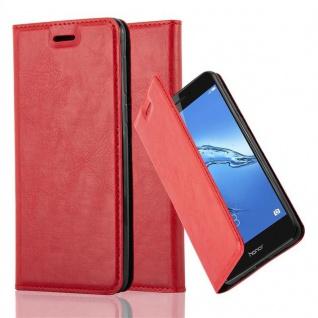 Cadorabo Hülle für Honor 6C in APFEL ROT Handyhülle mit Magnetverschluss, Standfunktion und Kartenfach Case Cover Schutzhülle Etui Tasche Book Klapp Style