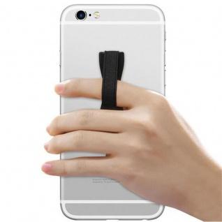 Cadorabo - Finger-Halterung Sling Grip für Smartphone / Tablet / iPod / eReader Griff Henkel Sling Schlaufe Riemen in SCHWARZ - Vorschau 3