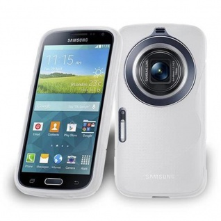 Cadorabo Hülle für Samsung Galaxy Z5 ZOOM in HALB TRANSPARENT - Handyhülle aus flexiblem TPU Silikon - Silikonhülle Schutzhülle Ultra Slim Soft Back Cover Case Bumper