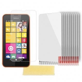 Cadorabo Displayschutzfolien für Nokia Lumia 530 - Schutzfolien in HIGH CLEAR ? 10 Stück hochtransparenter Schutzfolien gegen Staub, Schmutz und Kratzer