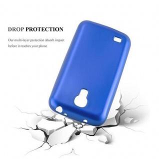 Cadorabo Hülle für Samsung Galaxy S4 in METALLIC BLAU - Handyhülle aus flexiblem TPU Silikon - Silikonhülle Schutzhülle Ultra Slim Soft Back Cover Case Bumper - Vorschau 3