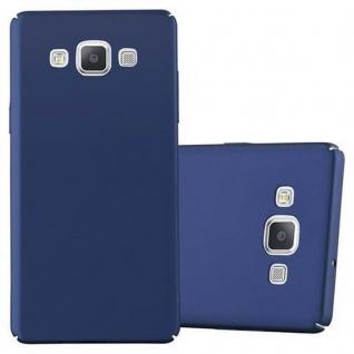 Cadorabo Hülle für Samsung Galaxy A5 2015 in METALL BLAU Hardcase Handyhülle aus Plastik gegen Kratzer und Stöße Schutzhülle Bumper Ultra Slim Back Case Hard Cover