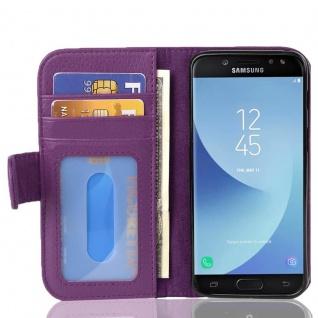 Cadorabo Hülle für Samsung Galaxy J5 2017 in BORDEAUX LILA - Handyhülle mit Magnetverschluss und 3 Kartenfächern - Case Cover Schutzhülle Etui Tasche Book Klapp Style