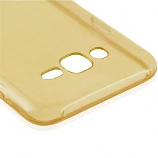 Cadorabo Hülle für Samsung Galaxy J7 2015 in TRANSPARENT GOLD - Handyhülle aus flexiblem TPU Silikon - Silikonhülle Schutzhülle Ultra Slim Soft Back Cover Case Bumper - Vorschau 4