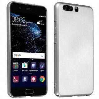 Cadorabo Hülle für Huawei P10 in METALL SILBER - Hardcase Handyhülle aus Plastik gegen Kratzer und Stöße - Schutzhülle Bumper Ultra Slim Back Case Hard Cover
