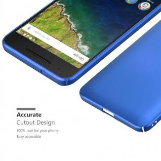 Cadorabo Hülle für Huawei NEXUS 6P in METALL BLAU ? Hardcase Handyhülle aus Plastik gegen Kratzer und Stöße ? Schutzhülle Bumper Ultra Slim Back Case Hard Cover - Vorschau 5