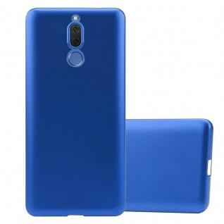 Cadorabo Hülle für Huawei MATE 10 LITE in METALLIC BLAU Handyhülle aus flexiblem TPU Silikon Silikonhülle Schutzhülle Ultra Slim Soft Back Cover Case Bumper