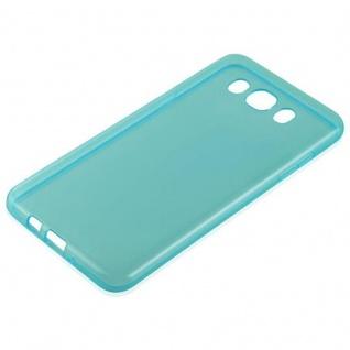 Cadorabo Hülle für Samsung Galaxy J7 2016 in TRANSPARENT BLAU - Handyhülle aus flexiblem TPU Silikon - Silikonhülle Schutzhülle Ultra Slim Soft Back Cover Case Bumper - Vorschau 2