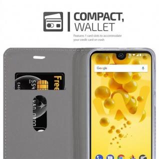 Cadorabo Hülle für WIKO VIEW 2 in DUNKEL BLAU SCHWARZ - Handyhülle mit Magnetverschluss, Standfunktion und Kartenfach - Case Cover Schutzhülle Etui Tasche Book Klapp Style - Vorschau 5