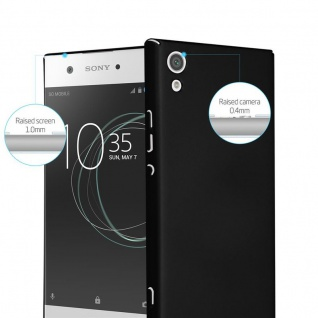 Cadorabo Hülle für Sony Xperia XA1 in METALL SCHWARZ - Hardcase Handyhülle aus Plastik gegen Kratzer und Stöße - Schutzhülle Bumper Ultra Slim Back Case Hard Cover - Vorschau 2