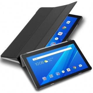 """Cadorabo Tablet Hülle für Lenovo Tab M10 (10, 1"""" Zoll) in SATIN SCHWARZ Ultra Dünne Book Style Schutzhülle OHNE Auto Wake Up und Standfunktion aus Kunstleder"""