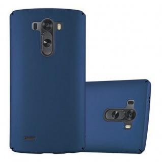 Cadorabo Hülle für LG G3 in METALL BLAU - Hardcase Handyhülle aus Plastik gegen Kratzer und Stöße - Schutzhülle Bumper Ultra Slim Back Case Hard Cover