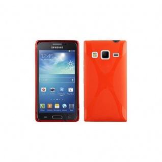 Cadorabo Hülle für Samsung Galaxy EXPRESS 2 in INFERNO ROT - Handyhülle aus flexiblem TPU Silikon - Silikonhülle Schutzhülle Ultra Slim Soft Back Cover Case Bumper