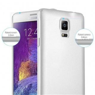 Cadorabo Hülle für Samsung Galaxy NOTE 4 in METALL SILBER - Hardcase Handyhülle aus Plastik gegen Kratzer und Stöße - Schutzhülle Bumper Ultra Slim Back Case Hard Cover - Vorschau 4