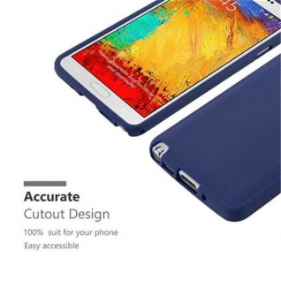 Cadorabo Hülle für Samsung Galaxy NOTE 3 in FROST DUNKEL BLAU - Handyhülle aus flexiblem TPU Silikon - Silikonhülle Schutzhülle Ultra Slim Soft Back Cover Case Bumper - Vorschau 2