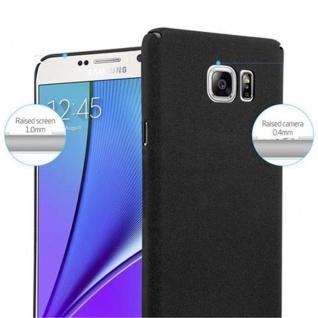 Cadorabo Hülle für Samsung Galaxy NOTE 5 in FROSTY SCHWARZ - Hardcase Handyhülle aus Plastik gegen Kratzer und Stöße - Schutzhülle Bumper Ultra Slim Back Case Hard Cover - Vorschau 5