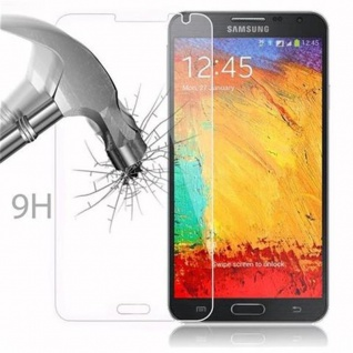 Cadorabo Panzer Folie für Samsung Galaxy NOTE 3 NEO - Schutzfolie in KRISTALL KLAR - Gehärtetes (Tempered) Display-Schutzglas in 9H Härte mit 3D Touch Kompatibilität - Vorschau 3