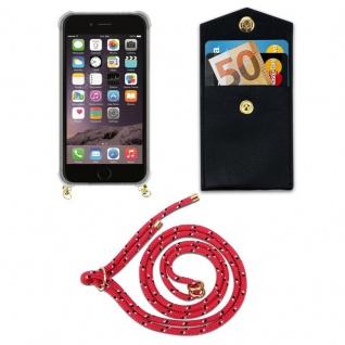 Cadorabo Handy Kette für Apple iPhone 6 PLUS / iPhone 6S PLUS in PINK SCHWARZ WEISS GEPUNKTET - Silikon Necklace Umhänge Hülle mit Gold Ringen, Kordel Band Schnur und abnehmbarem Etui ? Schutzhülle - Vorschau 5