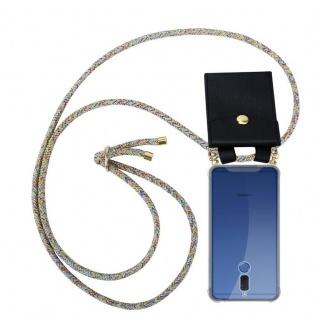 Cadorabo Handy Kette für Huawei MATE 10 LITE in RAINBOW - Silikon Necklace Umhänge Hülle mit Gold Ringen, Kordel Band Schnur und abnehmbarem Etui ? Schutzhülle