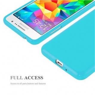Cadorabo Hülle für Samsung Galaxy GRAND PRIME in JELLY HELL BLAU ? Handyhülle aus flexiblem TPU Silikon ? Silikonhülle Schutzhülle Ultra Slim Soft Back Cover Case Bumper - Vorschau 4