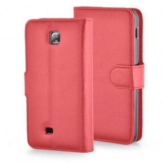 Cadorabo Hülle für LG F5 / LUCID 2 in KARMIN ROT - Handyhülle mit Magnetverschluss, Standfunktion und Kartenfach - Case Cover Schutzhülle Etui Tasche Book Klapp Style - Vorschau 5
