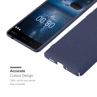Cadorabo Hülle für Nokia 8 2017 in FROSTY BLAU - Hardcase Handyhülle aus Plastik gegen Kratzer und Stöße - Schutzhülle Bumper Ultra Slim Back Case Hard Cover - Vorschau 5