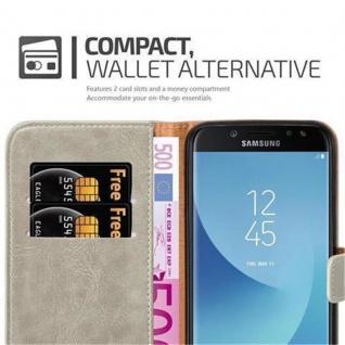 Cadorabo Hülle für Samsung Galaxy J7 2017 in CAPPUCCINO BRAUN ? Handyhülle mit Magnetverschluss, Standfunktion und Kartenfach ? Case Cover Schutzhülle Etui Tasche Book Klapp Style - Vorschau 4