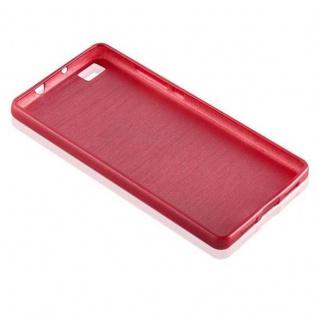 Cadorabo Hülle für Huawei P8 LITE 2015 in ROT - Handyhülle aus flexiblem TPU Silikon - Silikonhülle Schutzhülle Ultra Slim Soft Back Cover Case Bumper - Vorschau 3