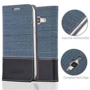 Cadorabo Hülle für Samsung Galaxy J1 2015 in DUNKEL BLAU SCHWARZ - Handyhülle mit Magnetverschluss, Standfunktion und Kartenfach - Case Cover Schutzhülle Etui Tasche Book Klapp Style - Vorschau 2