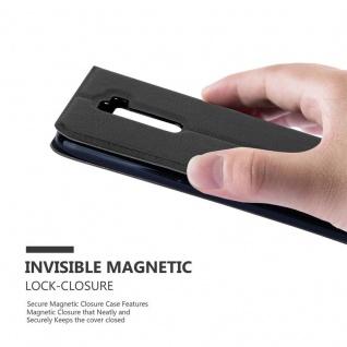 Cadorabo Hülle für LG K10 2016 in KOMETEN SCHWARZ ? Handyhülle mit Magnetverschluss, Standfunktion und 2 Sichtfenstern ? Case Cover Schutzhülle Etui Tasche Book Klapp Style - Vorschau 5