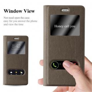 Cadorabo Hülle für Huawei P9 LITE in STEIN BRAUN ? Handyhülle mit Magnetverschluss, Standfunktion und 2 Sichtfenstern ? Case Cover Schutzhülle Etui Tasche Book Klapp Style - Vorschau 2