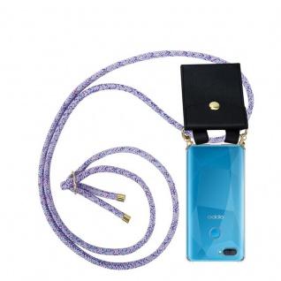 Cadorabo Handy Kette für Oppo A12 in UNICORN Silikon Necklace Umhänge Hülle mit Gold Ringen, Kordel Band Schnur und abnehmbarem Etui Schutzhülle