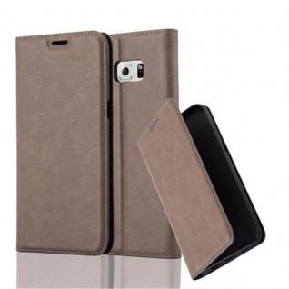 Cadorabo Hülle für Samsung Galaxy S6 EDGE PLUS in KAFFEE BRAUN - Handyhülle mit Magnetverschluss, Standfunktion und Kartenfach - Case Cover Schutzhülle Etui Tasche Book Klapp Style