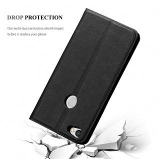 Cadorabo Hülle für Xiaomi RedMi NOTE 5A in NACHT SCHWARZ - Handyhülle mit Magnetverschluss, Standfunktion und Kartenfach - Case Cover Schutzhülle Etui Tasche Book Klapp Style - Vorschau 5