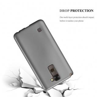 Cadorabo Hülle für LG Stylus 2 in METALLIC GRAU - Handyhülle aus flexiblem TPU Silikon - Silikonhülle Schutzhülle Ultra Slim Soft Back Cover Case Bumper - Vorschau 3