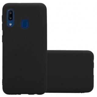 Cadorabo Hülle für Samsung Galaxy A20e in CANDY SCHWARZ - Handyhülle aus flexiblem TPU Silikon - Silikonhülle Schutzhülle Ultra Slim Soft Back Cover Case Bumper