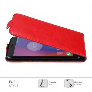 Cadorabo Hülle für Lenovo K6 / K6 POWER in APFEL ROT Handyhülle im Flip Design mit Magnetverschluss Case Cover Schutzhülle Etui Tasche Book Klapp Style - Vorschau 4