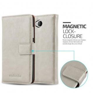 Cadorabo Hülle für Nokia Lumia 650 in CAPPUCCINO BRAUN ? Handyhülle mit Magnetverschluss, Standfunktion und Kartenfach ? Case Cover Schutzhülle Etui Tasche Book Klapp Style - Vorschau 2