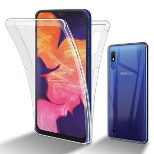 Cadorabo Hülle kompatibel mit Samsung Galaxy A10 / M10 in TRANSPARENT - 360° Full Body Handyhülle Front und Rückenschutz Rundumschutz Schutzhülle mit Displayschutz