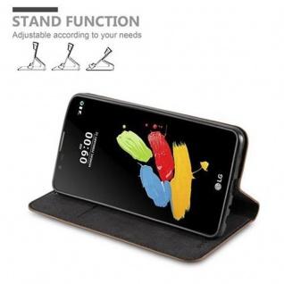 Cadorabo Hülle für LG STYLUS 2 in KAFFEE BRAUN - Handyhülle mit Magnetverschluss, Standfunktion und Kartenfach - Case Cover Schutzhülle Etui Tasche Book Klapp Style - Vorschau 4