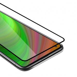 Cadorabo Vollbild Panzer Folie kompatibel mit Xiaomi Redmi 10X 4G Schutzfolie in TRANSPARENT mit SCHWARZ Gehärtetes (Tempered) Display-Schutzglas in 9H Härte mit 3D Touch