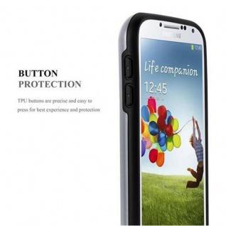 Cadorabo Hülle für Samsung Galaxy S4 - Hülle in ARMOR SILBER ? Handyhülle mit Kartenfach - Hard Case TPU Silikon Schutzhülle für Hybrid Cover im Outdoor Heavy Duty Design - Vorschau 4