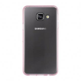 Cadorabo Hülle für Samsung Galaxy A3 2016 - Hülle in TRANSPARENT ROSA ? Handyhülle aus TPU Silikon im Strass Design - Silikonhülle Schutzhülle Ultra Slim Soft Back Cover Case Bumper - Vorschau 2