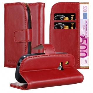 Cadorabo Hülle für Nokia 3310 in WEIN ROT ? Handyhülle mit Magnetverschluss, Standfunktion und Kartenfach ? Case Cover Schutzhülle Etui Tasche Book Klapp Style