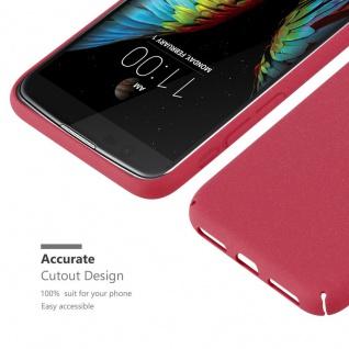 Cadorabo Hülle für LG K10 2016 in FROSTY ROT - Hardcase Handyhülle aus Plastik gegen Kratzer und Stöße - Schutzhülle Bumper Ultra Slim Back Case Hard Cover - Vorschau 5